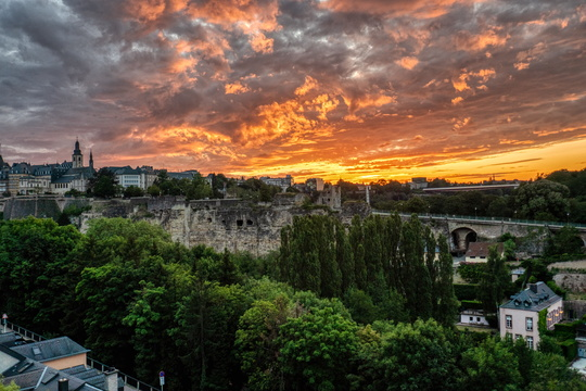 Sunset over Luxembourg City
