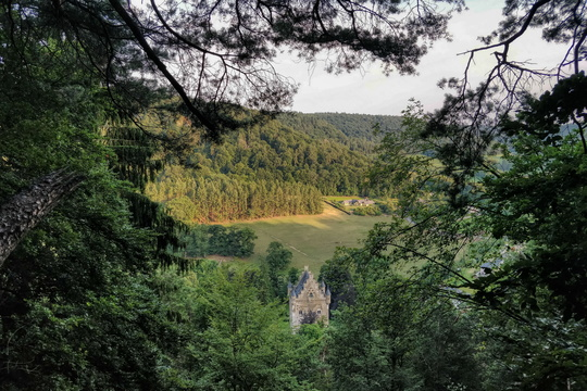 Schoenfels castle from viewpoint