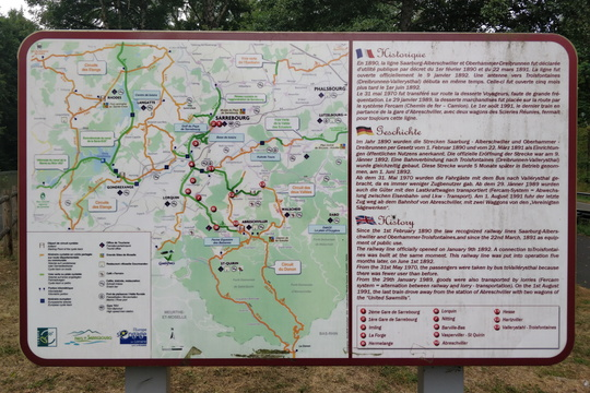Cycling routes map near Sarrebourg