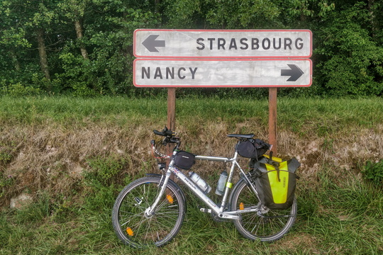 This was a ride from Nancy to Strasbourg so the sign fits