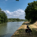 "The ""not-yet-ready"" part of the cycling route between Nancy and"