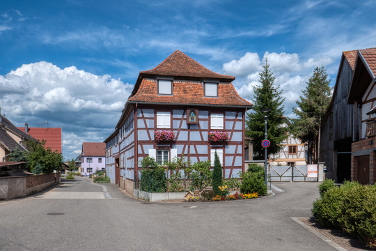 The village of Ebersheim