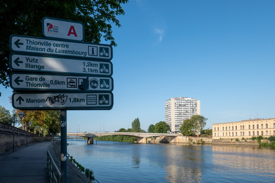 Cycling directions in Thionville