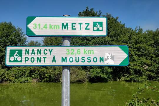About half-way between Nancy and Metz