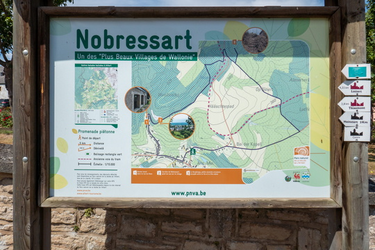 Hiking map in Nobressart
