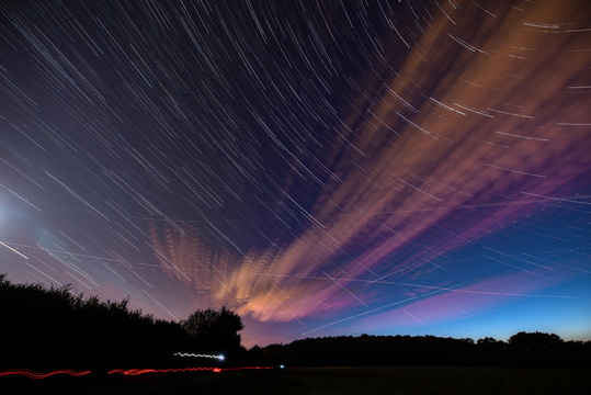 Night sky long exposure