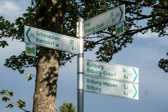 Cycling directions near Bitburg