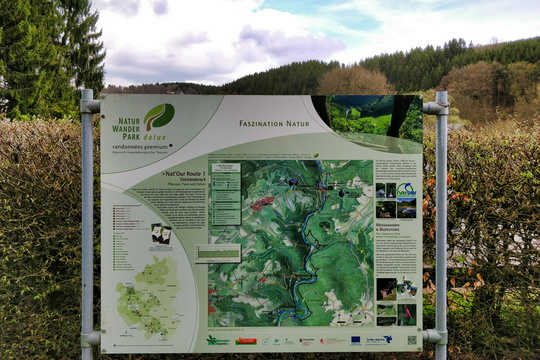 Nat'Our Route 1 trail map and information board