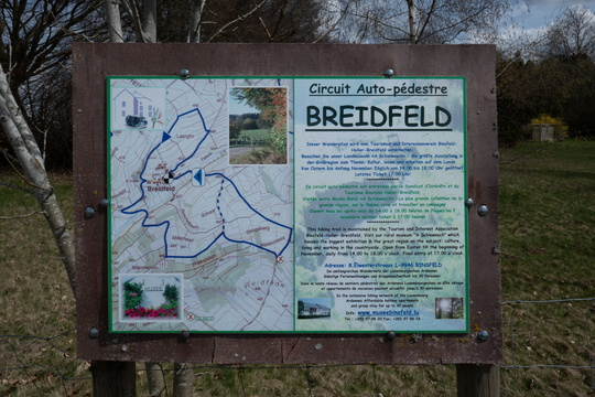Autopédestre Breidfeld map and informatiom board