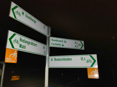 Cycling directions near Rindschleiden