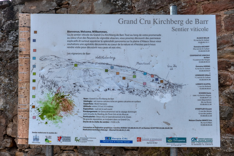 Grand Cru Kirchberg de Barr - Sentier viticole