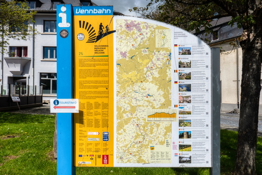 Vennbahn information board in Troisvierges