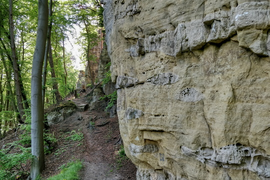 Cliffs on Sentier de l'Alzette near Rollingen