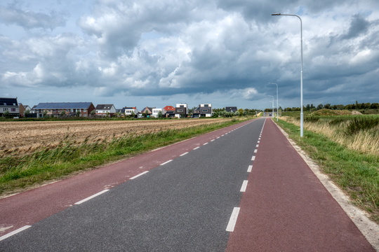 Cycling street in Goes
