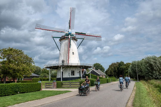 Cycling life at the windmill in Goes