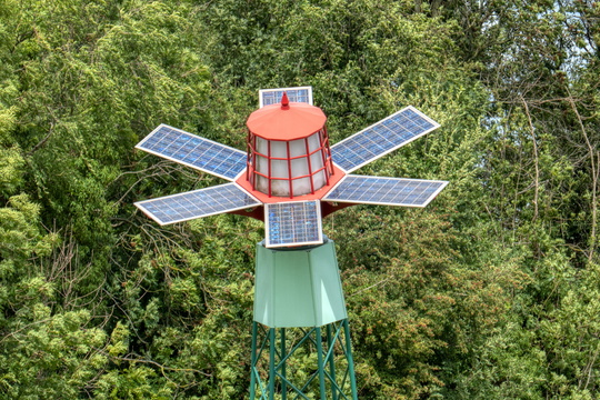 Solar mini lighthouse near Kapelle