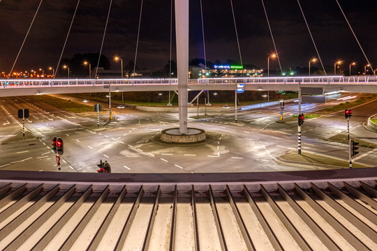 Elevated bike roundabout in Eindhoven