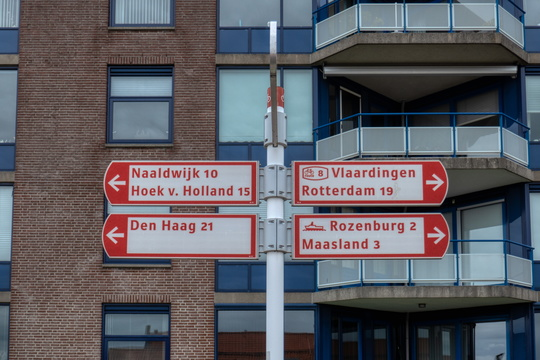 Cycling directions in Maassluis