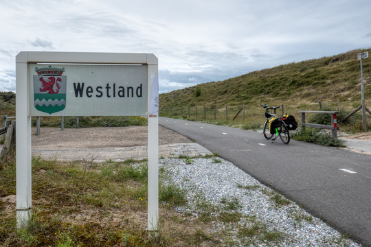 North Sea cycling route in Westland