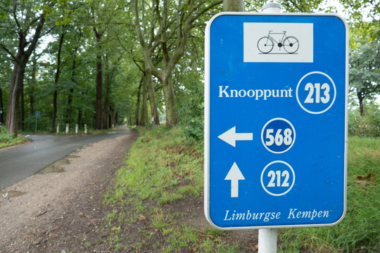 Cycling nodal network in Limburg (BE)