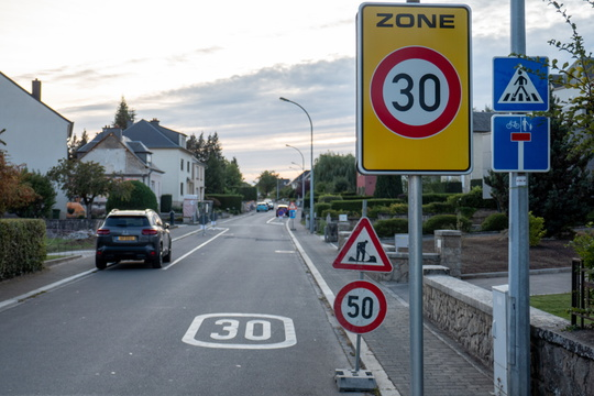 Speed limit has been raised due to roadworks