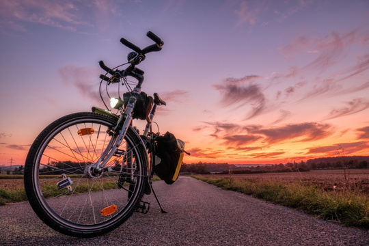 Bike at dusk, Schouweiler