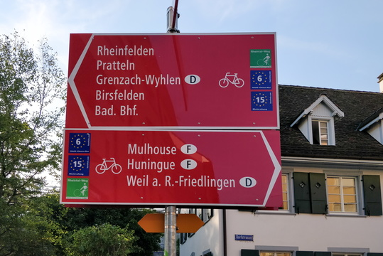 Cycling directions in Basel