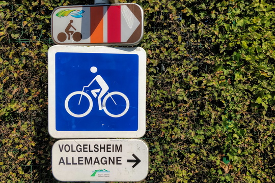 Cycling sign in Neuf-Brisach