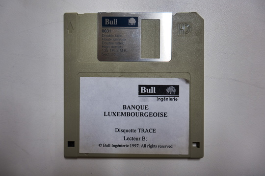 Banque Luxembourgeoise floppy disk