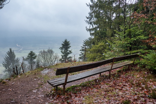 Frohnberg  viewpoint to the fog