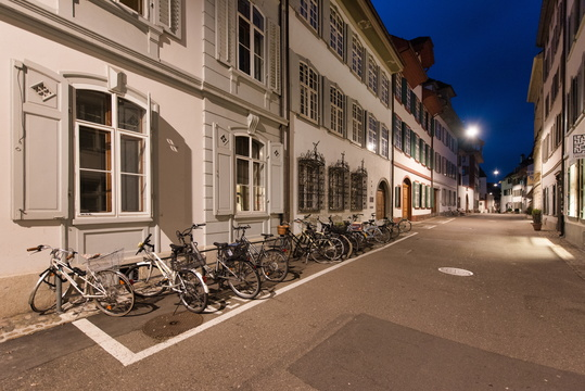 Bicycle parking in Basel