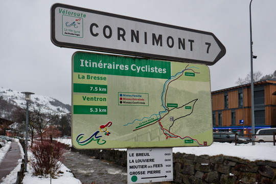 Cycling directions in La Bresse