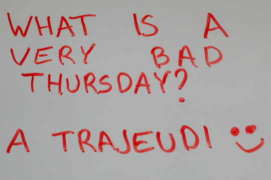 What is a very bad Thursday?