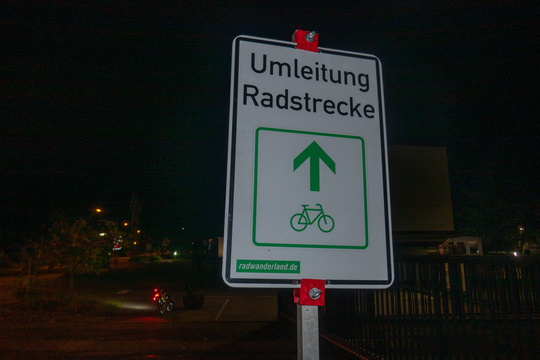 4th Umleitung during today's ride in addition of the closure wit