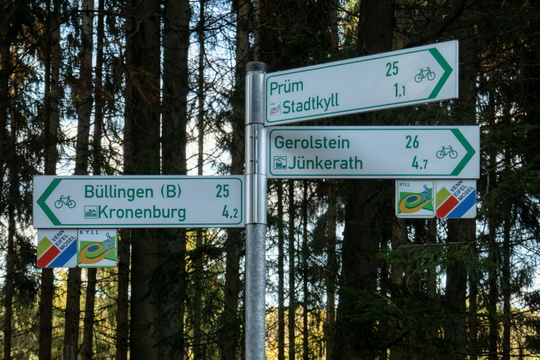 Cycling directions near Stadtkyll