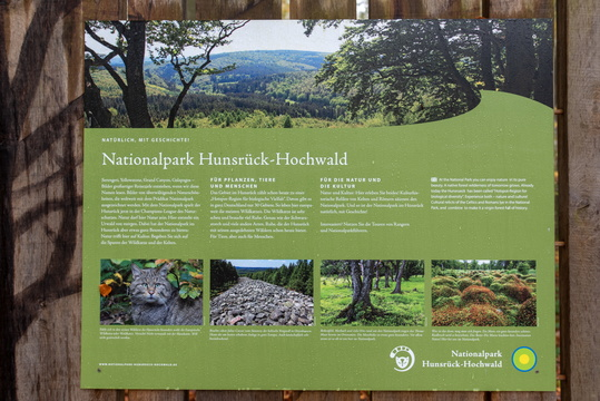 Hunsrück-Hochwald National Park information board