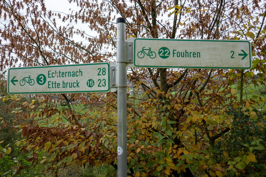 Cycling directions in Bettel