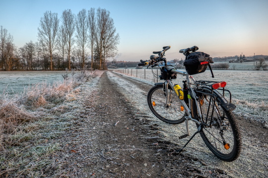 Frosty commute to work