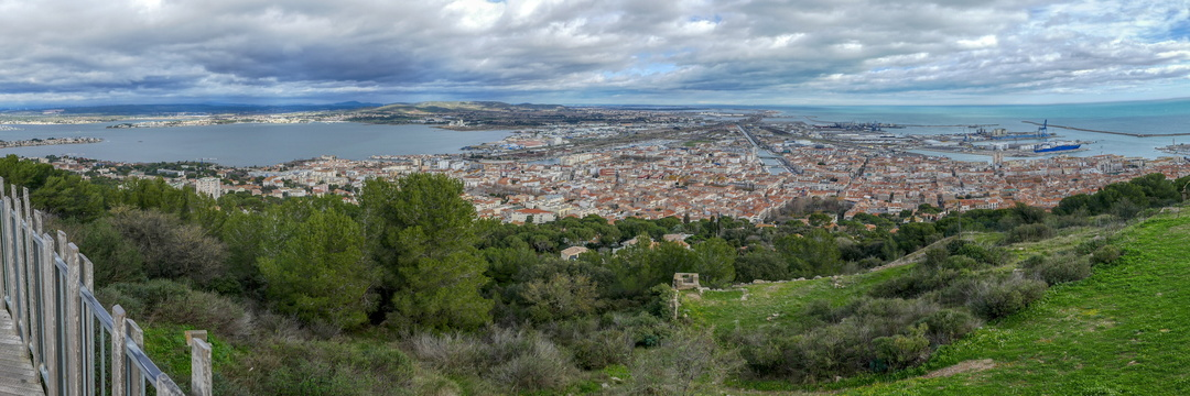 Sete panorama from Mont Saint Clair