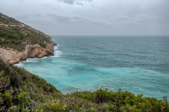 Sea coast near Sitges