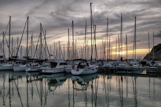 Boats at Port de la Ginesta