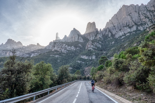 Cycling up to Montserrat