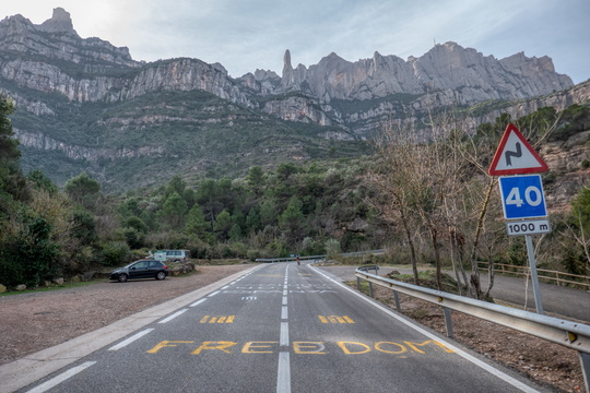 Freedom on the road to Montserrat