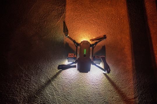 Drone ready for a night fly