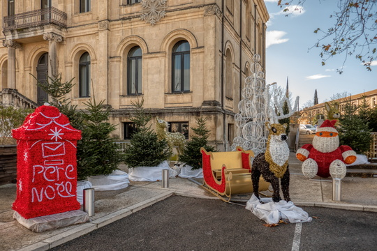 Christmas decoration in Sorgues