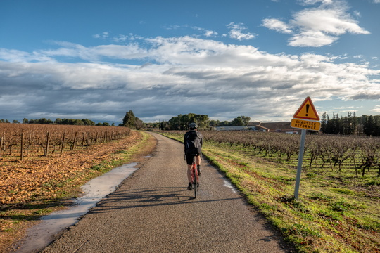 Cycling near Sorgues