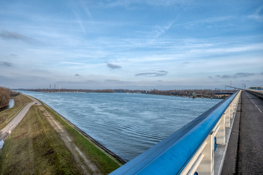 The Rhine river from Pflimlin bridge
