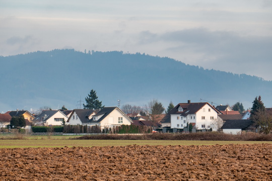 Black Forest behind the village of Waltersweier