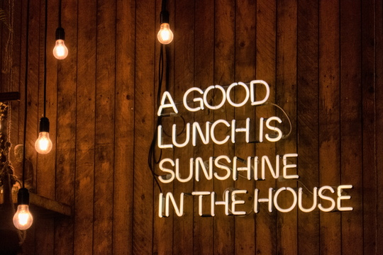 A good lunch is sunshine in the house