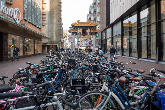 Bicycle parking in The Hague
